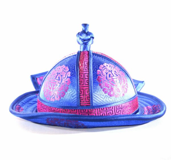 Blue ethnic hat