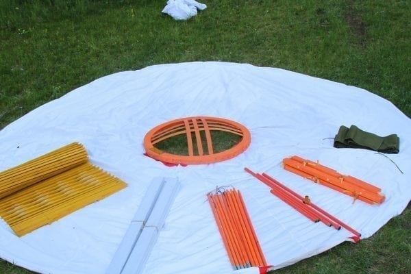 looking from Tools of Cmping Yurt
