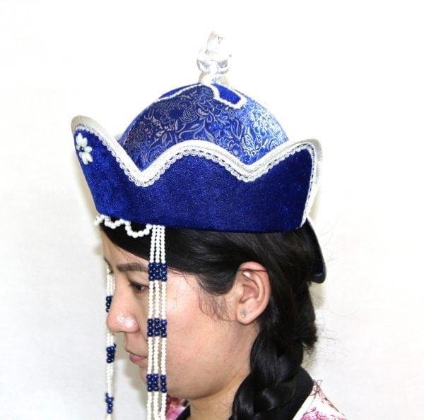 Left Side of Women's Pearl Hat