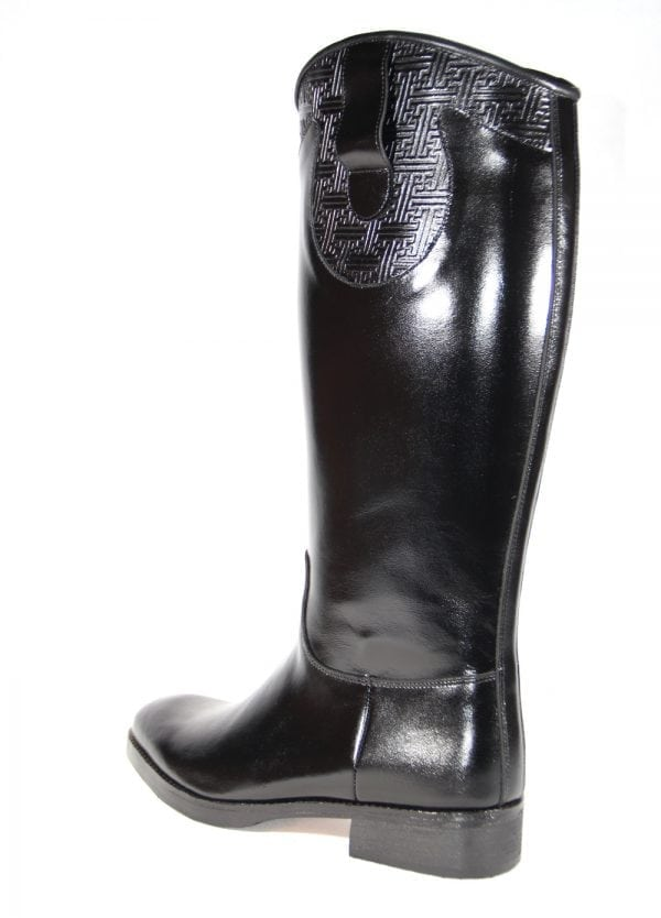 Mongolian Black Leather boot