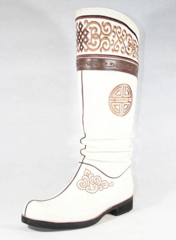 Tall white boots