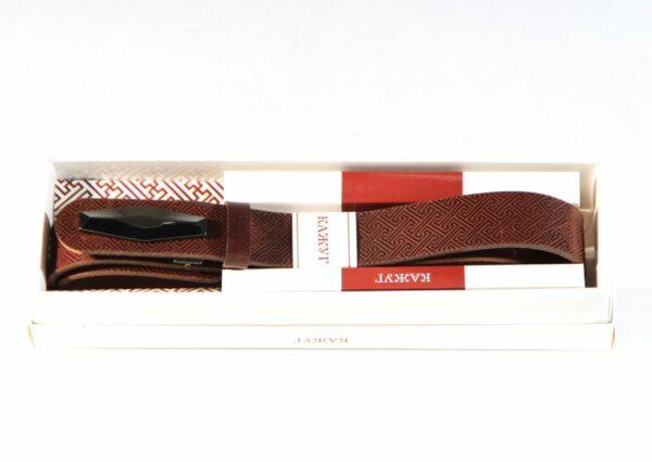 Mongolian Men's Leather Belt