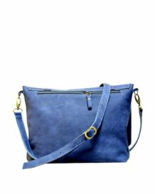 Mongolian MR Blue Leather Bag