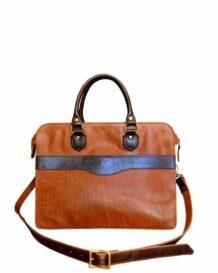 Mongolian MR Leather Bag back