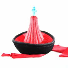 Mongolian oval red hat