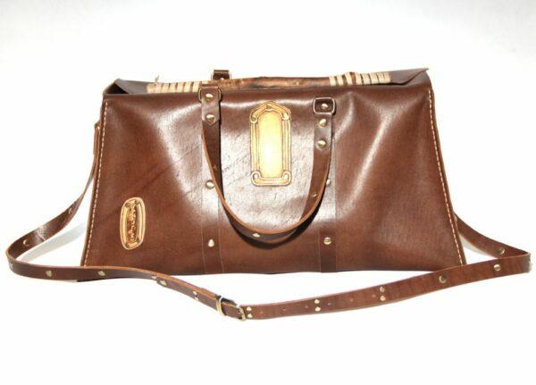 Wooden frame travel bag