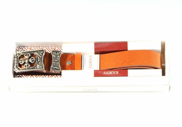 Mongolian Yellow Leather Belt