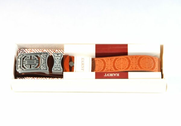 Kajuc leather belt with package