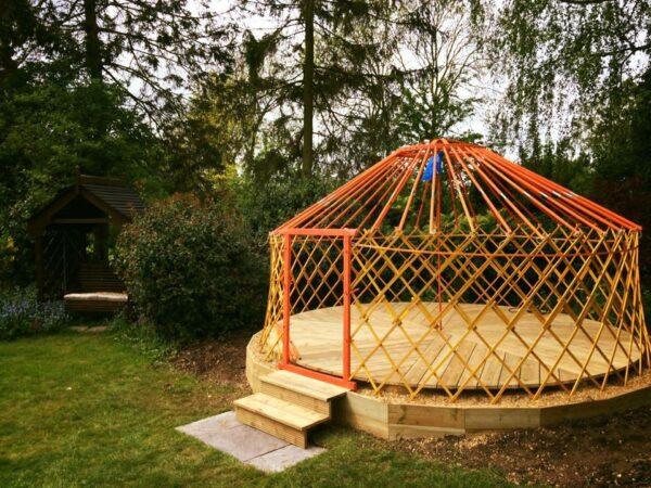 Wooden frame Mongolian yurt
