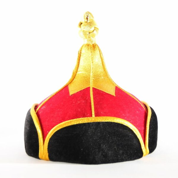 Mongolian Red Hat with Golden top