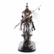 Genghis khan statue from back