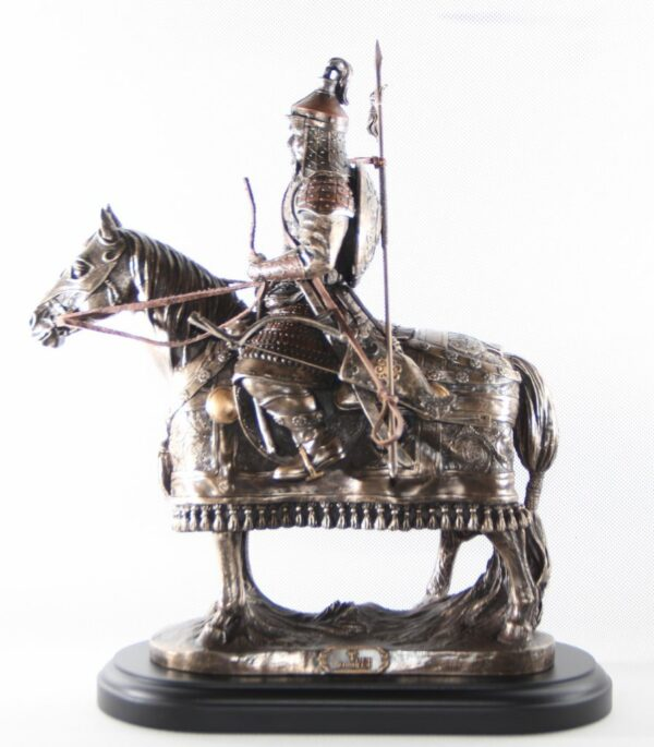 Genghis khan's sculpture with armor