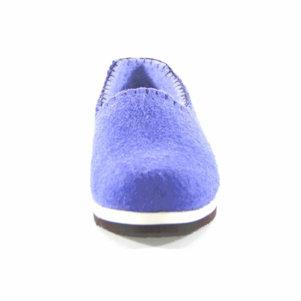 Mongolian Purple felted shoes with rubber sole
