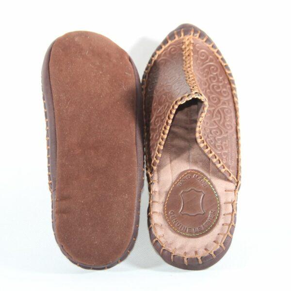 Mongolian felt sole, leather body slippers