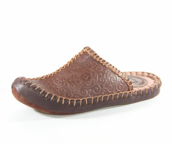 Felt sole leather slippers