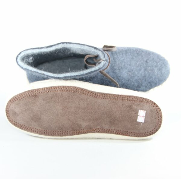 Blue Thick felted shoes