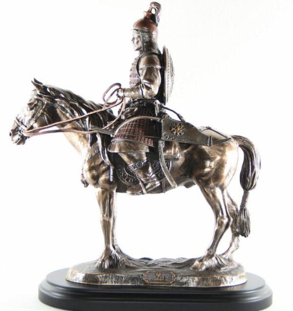 Mongolian warrior sculpture left side