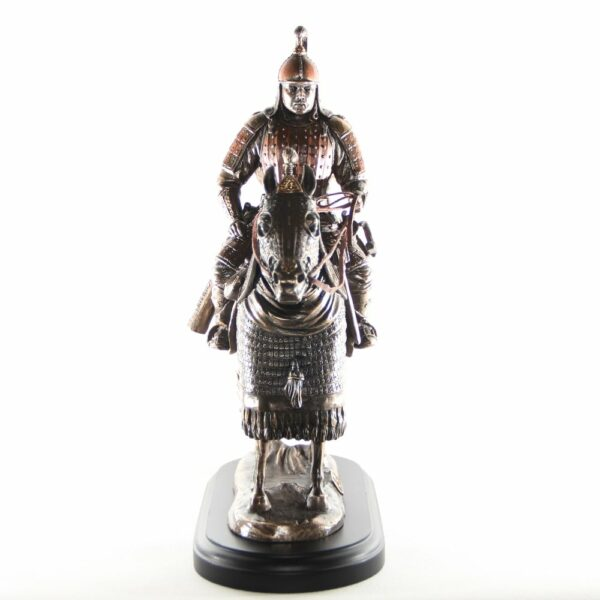 Mongolian Warrior sculpture /Tail Group's Center Wings Blessed Warrior/