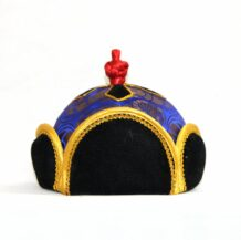 Mongolian traditional blue hat