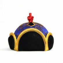 Mongolian traditional blue hat