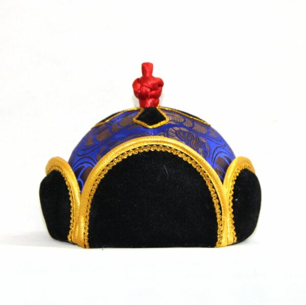 Mongolian hat with yellow trimming /front/