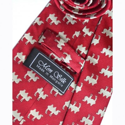 Mongolian Camel tie necktie with box
