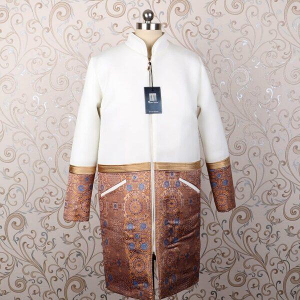 Mongolian white costume