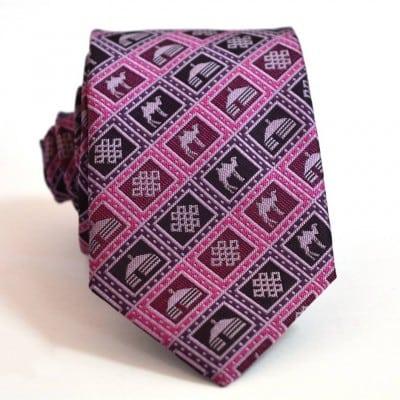 Mongolian purple necktie small