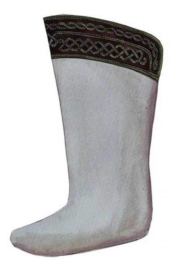 Mongolian boots sock