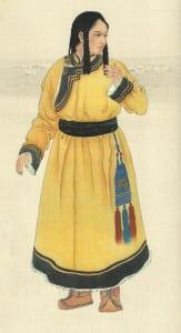 Mongolian women dress