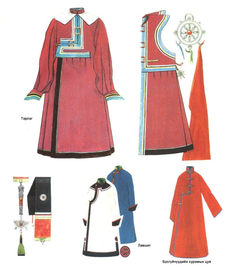 Mongolian clothing, Jewelry Bayad