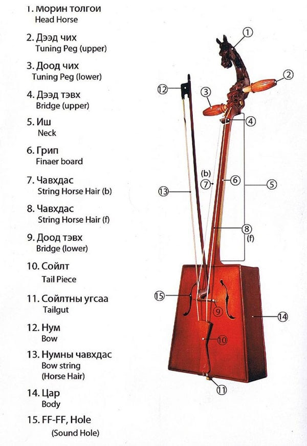 Structure of Morin khuur