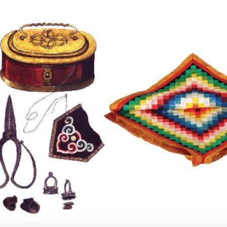 Mongolian Art of needlework and knitting