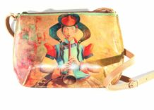 Mongolian Leather Bag With Art
