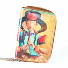 Mongolian Beige Wallet With An Art