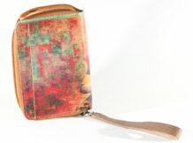 Mongolian Beige Wallet With An Art