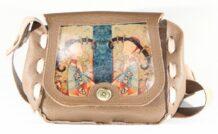 Mongolian Light Brown Bag With An Art