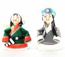 Mongolian Small Doll Couple