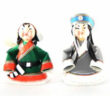 Mongolian Small Doll Couple