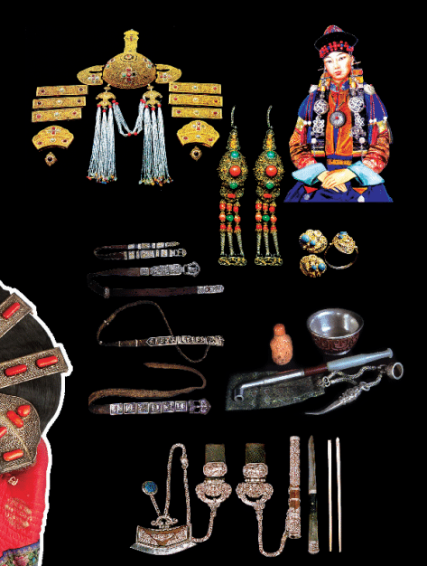 Mongolian traditional costume accessories