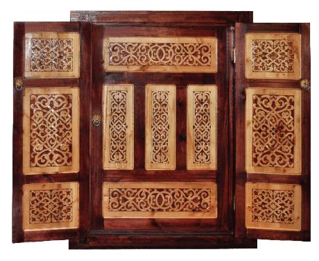 yurt wooden door