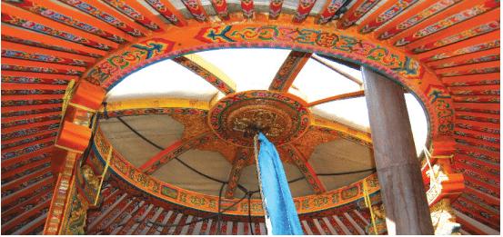 Mongolian Yurt crown