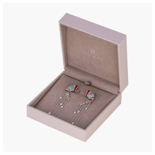 Mngolian Quotes statement earrings