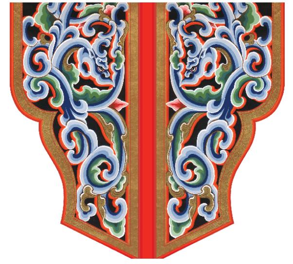 Painted Pillar of Mongolian Yurt