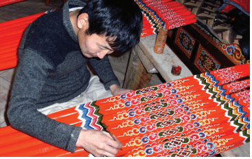 Mongolian yurt spokes
