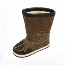 Mongolian Brown Kid's Boots With An Inner Lining