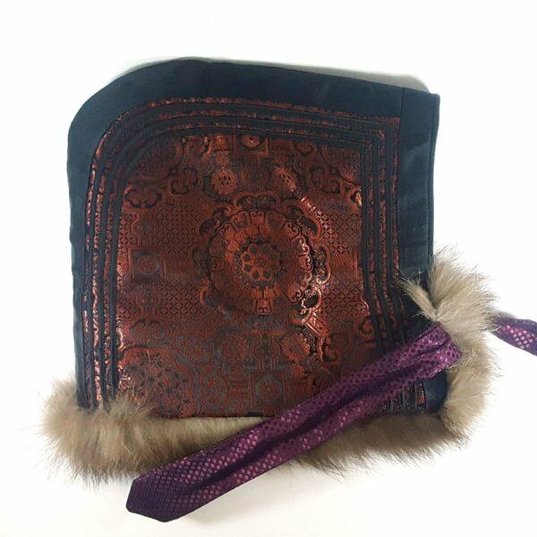 Mongolian Winter Sable fur hat, Mongolian traditional style