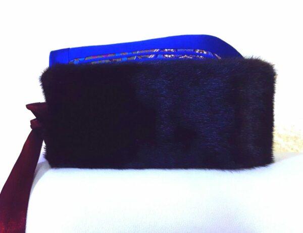 蒙古冬季紫貂毛皮帽,蒙古族传统风格