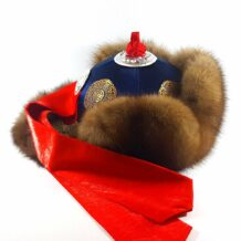 Mongolian Yellow Wild Sable Fur hat