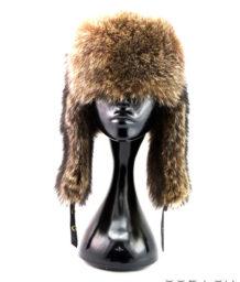 A raccoon hat